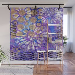 Pattern in Purples and Blues Wall Mural