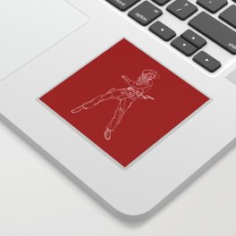 Crimson Cowgirl Sticker