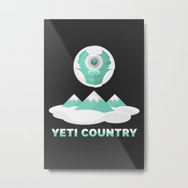Yeti Country Metal Print