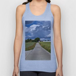 Summer Field Poetry Unisex Tank Top