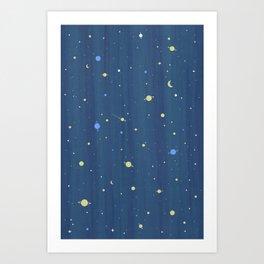 Starry Night Pattern Art Print