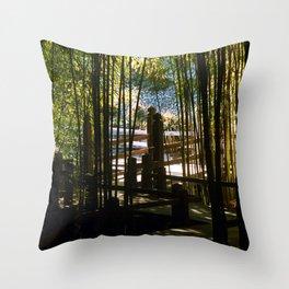 Through The Bamboo Throw Pillow