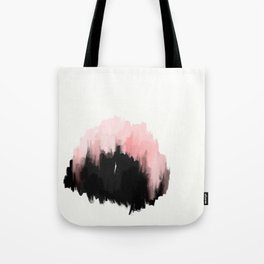 pink cities - an abstract painting in millennial pink and black Tote Bag