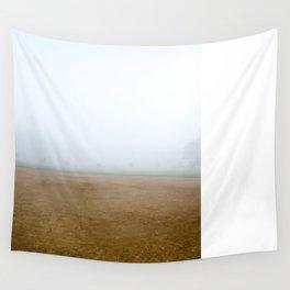 Baseball Field on a Foggy Morning Wall Tapestry