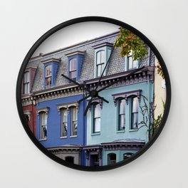 Row houses located near intersection of 5th Street and Independence Avenue SE Washington DC Wall Clock