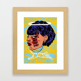 Not Your Baby Framed Art Print