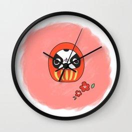 "Japanese chin Mochio ""MOCHIO DARUMA"" Wall Clock"