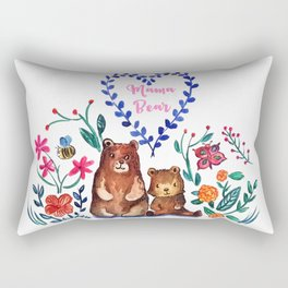 Mother's Day Mama Beare Rectangular Pillow