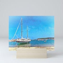 Anchored at the Scillies Mini Art Print