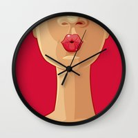 kiss Wall Clocks featuring Kiss by rusanovska