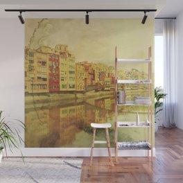 The river that reflects the city Wall Mural