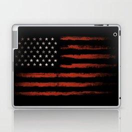 American flag Grunge Black Laptop & iPad Skin