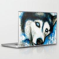 husky Laptop & iPad Skins featuring Husky by Villarreal
