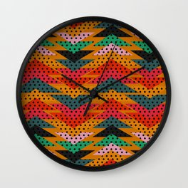 Spotty triangles Wall Clock