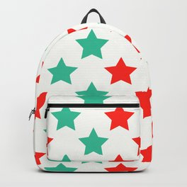 Christmas Star Pattern Stars Decoration Backpack