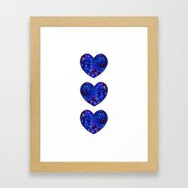 Three Space Hearts Framed Art Print