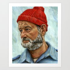 Bill Murray / Steve Zissou Art Print
