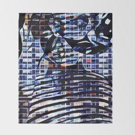 In House Blue Throw Blanket