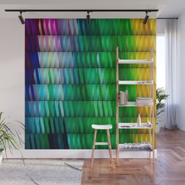 Multicolored Rectangle Pattern Wall Mural