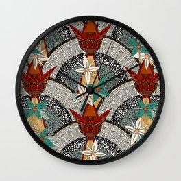 deco fleur Wall Clock
