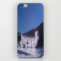 skiing iPhone & iPod Skins featuring skiing place by westchestrian_art