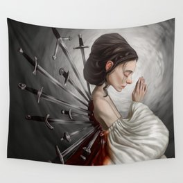 Wounds we can't heal Wall Tapestry