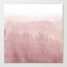 Modern creative blush pink watercolor ombre Canvas Print