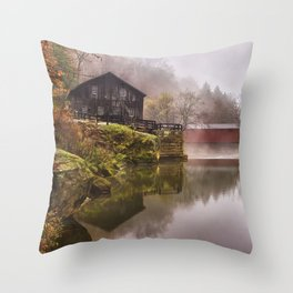 Morning at the Mill Throw Pillow