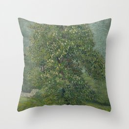 Horse Chestnut Tree in Blossom Throw Pillow