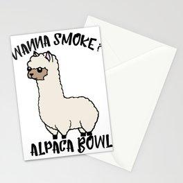 Wanna Smoke Alpaca Bowl Stationery Cards