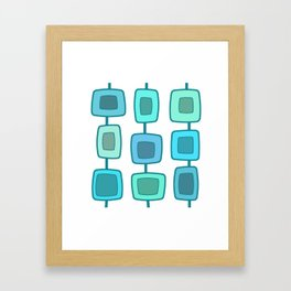 MidCentury Modern Swatches (Turquoise) Framed Art Print