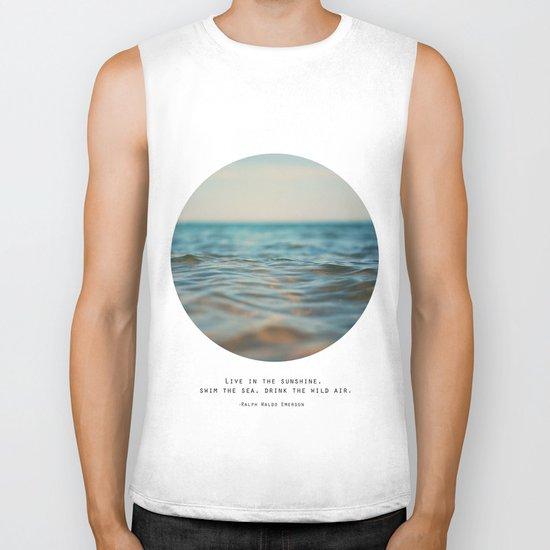 Swim The Sea Biker Tank