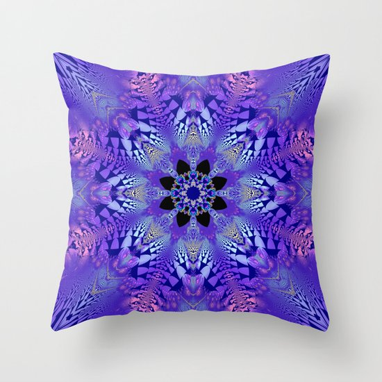 Pink, purple and sand kaleidoscope Throw Pillow by Thea Walstra Society6