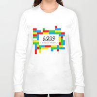 pun Long Sleeve T-shirts featuring CSS Pun - Lego by iwantdesigns