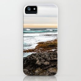 Volcanic Seascape in Fuerteventura at sunset iPhone Case