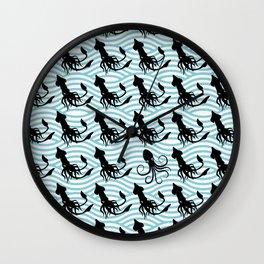 Squid Pattern Wall Clock