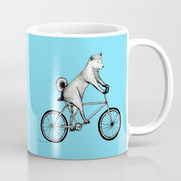 Shiba Inu Riding a Bicycle Coffee Mug
