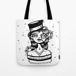 Top Hat Girl Tote Bag