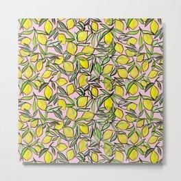 Lemons for pink lemonade Metal Print