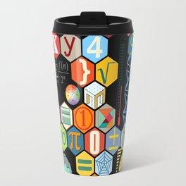 Math in color Black B Travel Mug