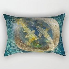Abundance in blue Rectangular Pillow