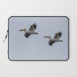 Pair of American White Pelicans in Flight Laptop Sleeve