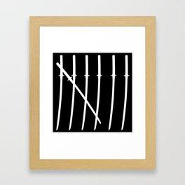 The Samurai Checklist Framed Art Print