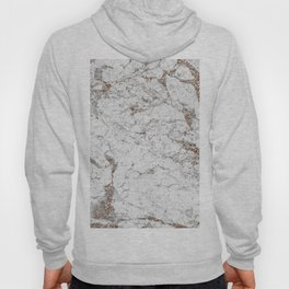 White frost - rose gold marble Hoody