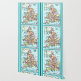 Vintage Map  of England and Wales Wallpaper
