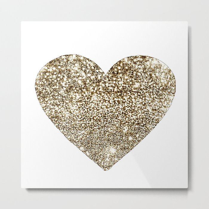 GOLD Heart-8 Metal Print