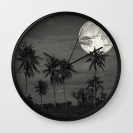 Leave nothing, but your footprints series - V.-  Wall Clock