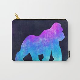 GORILLA IN SPACE // Animal Graphic Art // Watercolor Canvas Painting // Modern Minimal Cute Carry-All Pouch