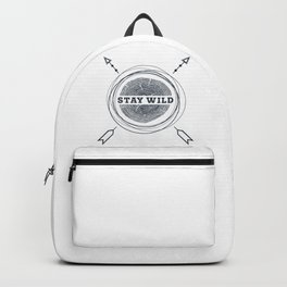 Stay Wild. Wood Trunk Backpack
