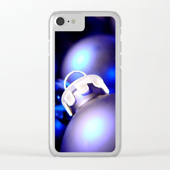Christmas Ornaments : Blue Christmas Clear iPhone Case